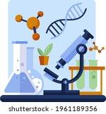 biotechnology concept. biology  ...   Shutterstock .eps vector #1961189356