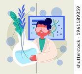 biotechnology concept. biology  ...   Shutterstock .eps vector #1961189359