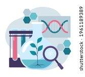 biotechnology concept. biology  ...   Shutterstock .eps vector #1961189389