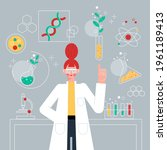 biotechnology concept. biology  ...   Shutterstock .eps vector #1961189413