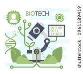 biotechnology concept. biology  ...   Shutterstock .eps vector #1961189419