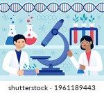 biotechnology concept. biology  ...   Shutterstock .eps vector #1961189443