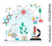 biotechnology concept. biology  ...   Shutterstock .eps vector #1961189446