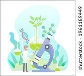 biotechnology concept. biology  ...   Shutterstock .eps vector #1961189449