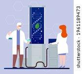 biotechnology concept. biology  ...   Shutterstock .eps vector #1961189473