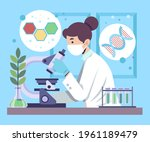 biotechnology concept. biology  ...   Shutterstock .eps vector #1961189479