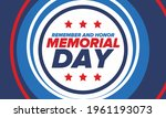memorial day in united states.... | Shutterstock .eps vector #1961193073