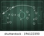 soccer field with white lines... | Shutterstock .eps vector #196122350