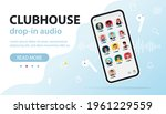 clubhouse invite only social...   Shutterstock .eps vector #1961229559