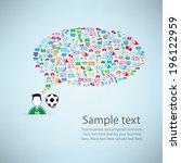template design player idea...   Shutterstock .eps vector #196122959