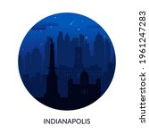 indianapolis  usa famous city... | Shutterstock .eps vector #1961247283