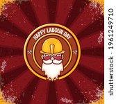 happy labour day vector logo ... | Shutterstock .eps vector #1961249710