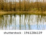 A Scenic Pond Or Lake In The...