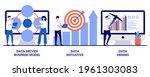 data driven business model ... | Shutterstock .eps vector #1961303083
