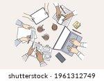 brainstorming  teamwork ...   Shutterstock .eps vector #1961312749