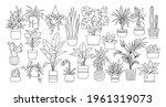 houseplants. plant outline... | Shutterstock .eps vector #1961319073
