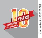 10th years anniversary... | Shutterstock .eps vector #196135604