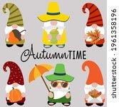 autumn time funny cartoon... | Shutterstock .eps vector #1961358196