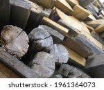 The Firewood Is Stacked In A...