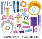 woman hair accessories. cartoon ... | Shutterstock .eps vector #1961388433