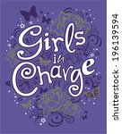 girls in charge | Shutterstock .eps vector #196139594