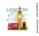london symbols travel time set...   Shutterstock .eps vector #1961399893