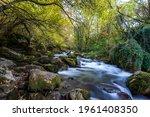 long exposure smooth flowing...   Shutterstock . vector #1961408350