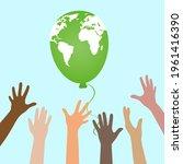 illustration of environmental... | Shutterstock . vector #1961416390