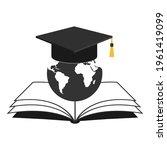 globe illustration with... | Shutterstock . vector #1961419099