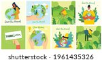 set of eco save environment...   Shutterstock .eps vector #1961435326