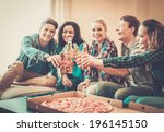 group of young multi ethnic...   Shutterstock . vector #196145150