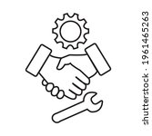 mounting company icon. shaking... | Shutterstock .eps vector #1961465263