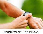 trail or cross country runner... | Shutterstock . vector #196148564