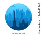 indianapolis  usa famous city... | Shutterstock .eps vector #1961492146