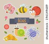 hello bugs | Shutterstock .eps vector #196149689