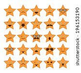 set of stars with different... | Shutterstock .eps vector #196153190