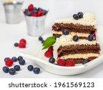 Chocolate Cream Cake Decorated...