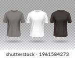 t shirt front white black and... | Shutterstock .eps vector #1961584273