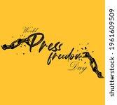 world press freedom day vector | Shutterstock .eps vector #1961609509