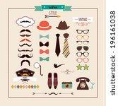 cute retro elements set    Shutterstock .eps vector #196161038