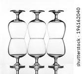 stack of empty wine glass on... | Shutterstock . vector #196162040