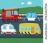 public service vehicles...   Shutterstock .eps vector #1961662966