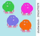 cartoon  colored mole. hand... | Shutterstock . vector #1961679379