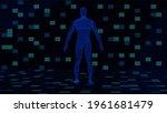 hud interface  futuristic human ...