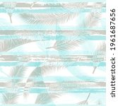 tropical coconut palm leaves... | Shutterstock .eps vector #1961687656