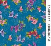 seamless floral pattern... | Shutterstock . vector #196168973