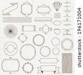 vintage hand drawn design... | Shutterstock .eps vector #196171004