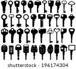 set of different keys isolated   Shutterstock .eps vector #196174304