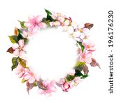 Floral Wreath With Pink Flower...
