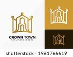 luxury crown town estate logo... | Shutterstock .eps vector #1961766619